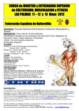 curso de entrenador nacional de fisicoculturismo y musculacion
