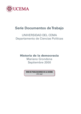 Serie Documentos de Trabajo