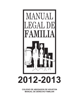 colegio de abogados de houston manual de derecho familiar