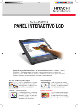 PANEL INTERACTIVO LCD - Hitachi Solutions Europe