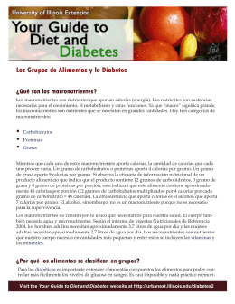 Los Grupos de Alimentos y la Diabetes