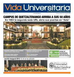 campus de quetzaltenango arriba a sus 50 años