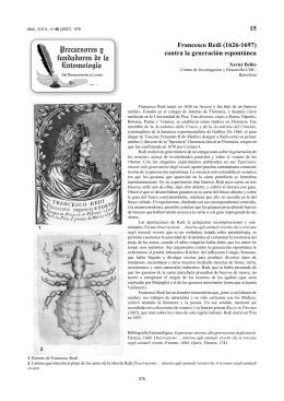 15 Francesco Redi (1626-1697) contra la generación espontánea