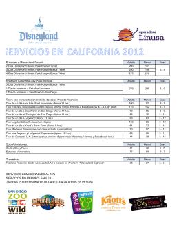 Entradas a Disneyland Resort: Southern California City Pass Incluye