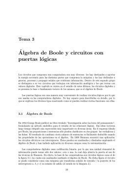 ´Algebra de Boole y circuitos con puertas lógicas
