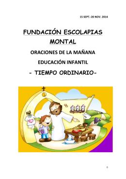 Infantil - Fundación Escolapias Montal