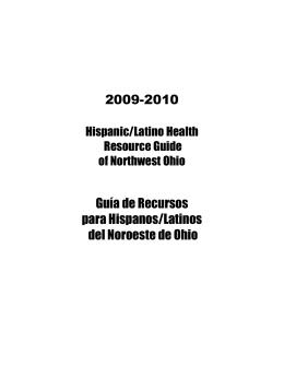 2009-2010 Guía de Recursos para Hispanos/Latinos del Noroeste