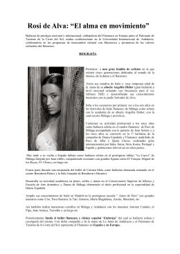 """Rosi de Alva: """"El alma en movimiento"""""""