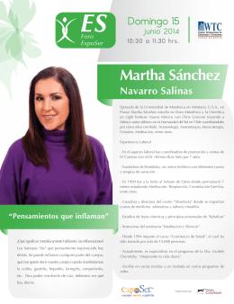 CV Martha Sanchez Navarro Foro ExpoSer