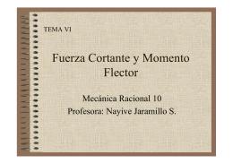 PDF Fuerza Cortante y Momento Flector
