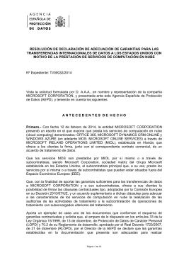 RESOLUCIÓN DE DECLARACIÓN DE