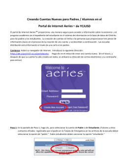 Creando Cuentas Nuevas para Padres / Alumnos en el Portal de