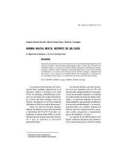 HERNIA HIATAL MIXTA. REPORTE DE UN CASO