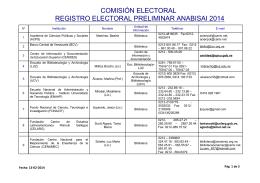 comisión electoral registro electoral preliminar anabisai 2014