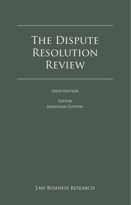 The Dispute Resolution Review