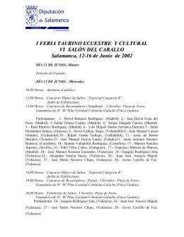 Programa Oficial - Diputación de Salamanca