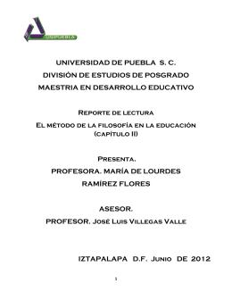 UNIVERSIDAD DE PUEBLA S. C. DIVISIÓN DE ESTUDIOS DE