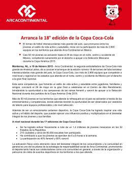 Arranca la 18° edición de la Copa Coca-Cola