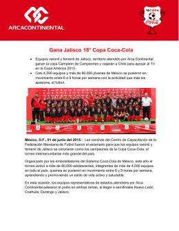 Gana Jalisco 18° Copa Coca-Cola