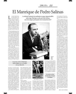 El Manrique de Pedro Salinas
