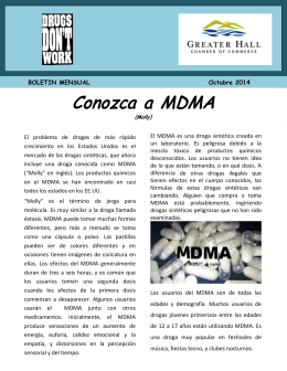 October 2014 – Conozca a MDMA