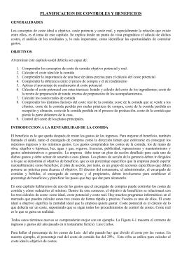 PLANIFICACION DE CONTROLES Y BENEFICIOS