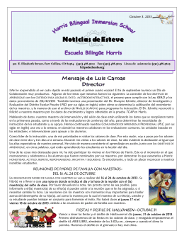 Noticias de Esteve - Harris Bilingual School