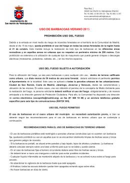 USO DE BARBACOAS VERANO 2015