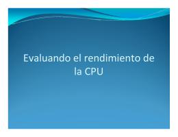 10 Evaluando rendimiento CPU