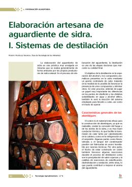Elaboración artesana de aguardiente de sidra: I. Sistemas de