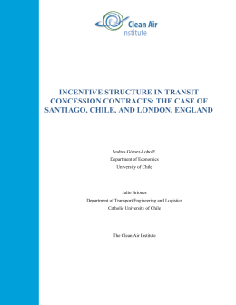 incentive structure in transit concession contracts