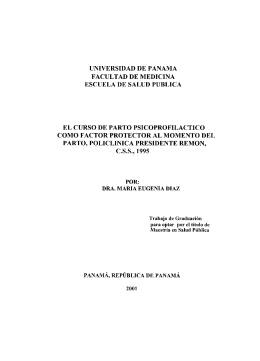 universidad de panama facultad de medicina escuela de salud