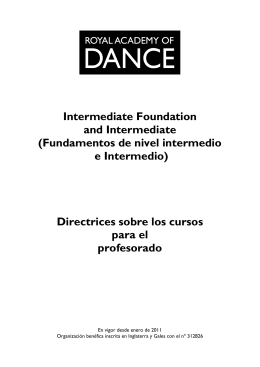 Intermediate Foundation and Intermediate