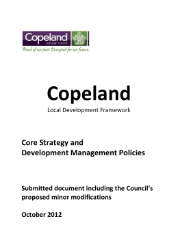 copeland local development framework