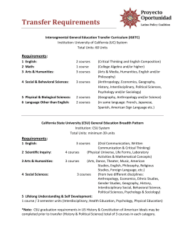 Transfer Requirements - Latino Policy Coalition