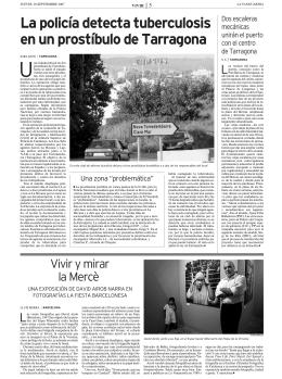 La policía detecta tuberculosis en un prostíbulo de Tarragona