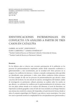 identificaciones patrimoniales en conflicto. un análisis a partir de