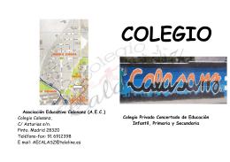 Colegio Calasanz, C/ Asturias s/n. Pinto. Madrid 28320 Teléfono-fax