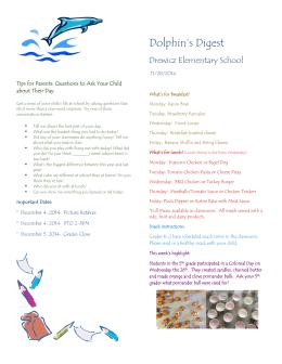 Dolphin`s Digest - Lynn Public Schools
