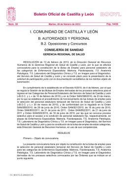 26/02/13 Convocatoria para actualización de méritos.