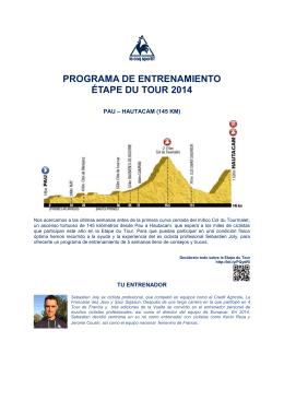programa de entrenamiento étape du tour 2014
