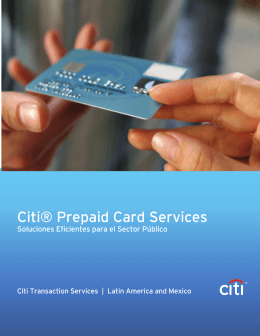 Citi® Prepaid Card Services