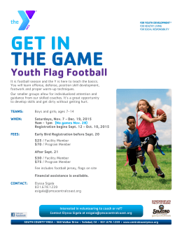 GET IN THE GAME Youth Flag Football