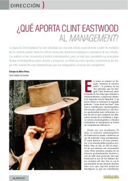 ¿Qué aporta Clint Eastwood al Management?, Observatorio de