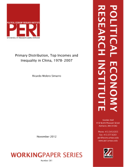 workingpaper - Political Economy Research Institute