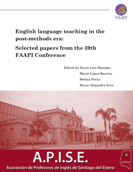 English language teaching in the post-methods era