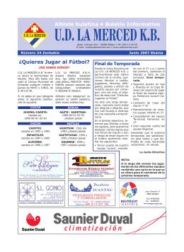 Junio 2007 - UD La Merced