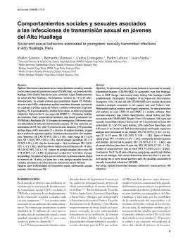 Comportamientos sociales y sexuales asociados a las