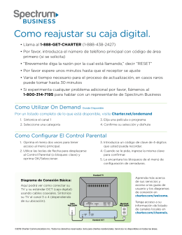 Como reajustar su caja digital.