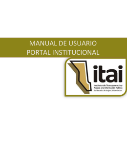 MANUAL DE USUARIO PORTAL INSTITUCIONAL